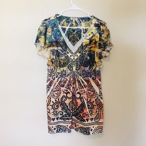 One world colorful blouse